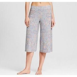 Womens Paisley Crop Leg Total Comfort Pajama Pants